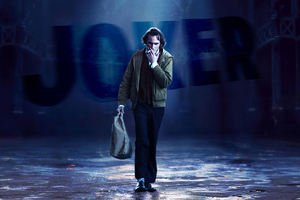 Joker Walking Cigratte Wallpaper