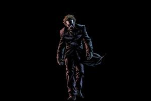 Joker Walking In Dark 4k Wallpaper