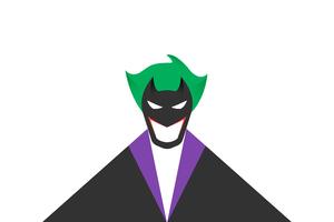 Joker White Minimal 8k Wallpaper