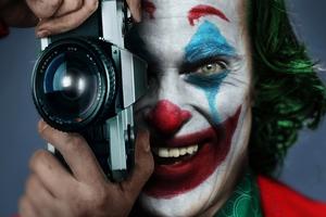 Joker With Camera Wallpaper