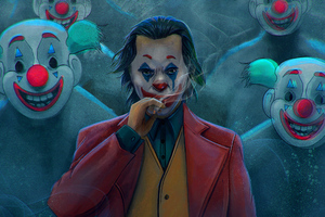Joker With Clowns Wallpaper