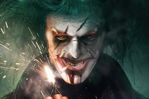 Joker With Fire Bomb