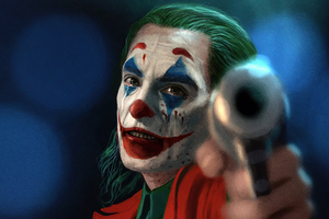 Joker With Gun 2020 4k Wallpaper