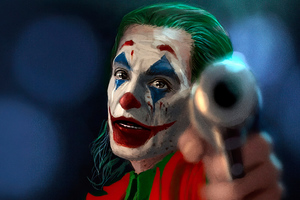 Joker With Gun 4k