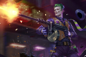 Joker With Gun Art