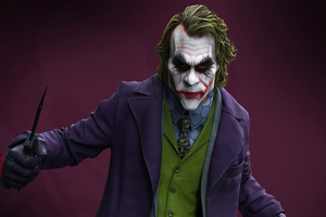 Joker With Knife 4k