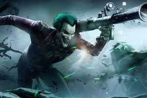 Joker With Missle Wallpaper