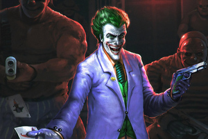 Joker With Team Wallpaper