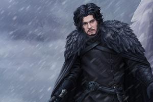 Jon Snow 4k Arts
