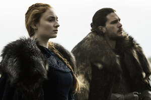 Jon Snow and Sansa Episode 9 Wallpaper