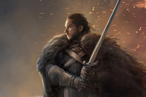 Jon Snow Fanartwork Wallpaper