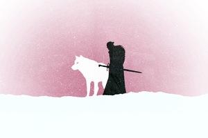 Jon Snow Game Of Thrones Minimalism
