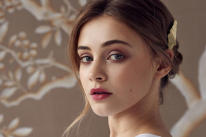 Josephine Langford Rose And Ivy Photoshoot Wallpaper