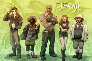 Jumanji Welcome To The Jungle 4k Artwork Wallpaper