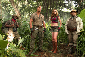 Jumanji Welcome To The Jungle Movie Cast 4k