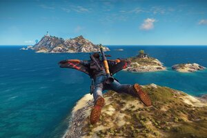 Just Cause 3 Flying Suit Wallpaper