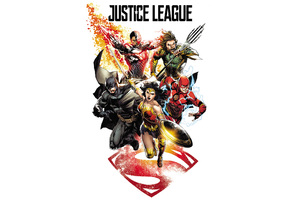 Justice League 2017 Comic Art Wallpaper