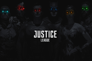 Justice League 2017 Monochrome Colored Eyes Wallpaper