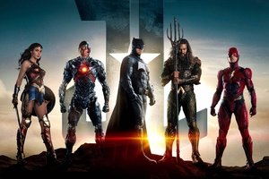 Justice League Batman Aquaman Flash Cyborg Wonder Woman 4k