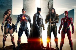 Justice League Batman Aquaman Flash Cyborg Wonder Woman Wallpaper