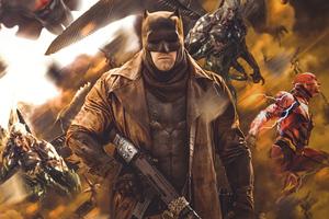 Justice League Batman In War 4k