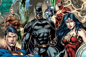 Justice League Dc Comic Art