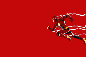 Justice League Flash Minimalism Wallpaper