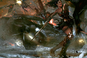 Justice League Flash Wonder Woman Aquaman Artwork