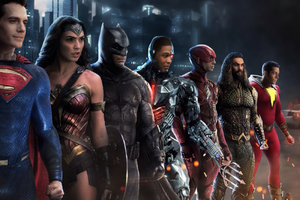 Justice League Heroes Among Wallpaper