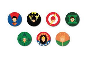 Justice League Heroes Badges