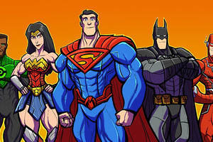 Justice League Heroes Cartoons Wallpaper