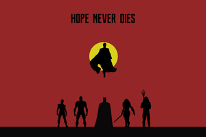 Justice League Hope Never Dies Wallpaper