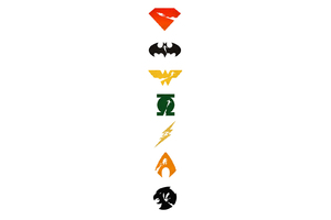 Justice League Logo Art Wallpaper