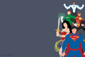 Justice League Minimalist Wallpaper