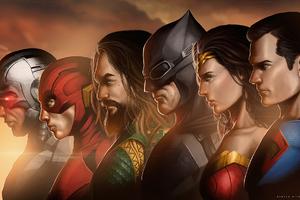 Justice League Movie Artwork Wallpaper