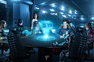Justice League Roundtable Wallpaper