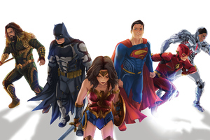 Justice League Sketch Art Wallpaper