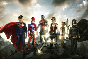 Justice League Small Heroes Wallpaper