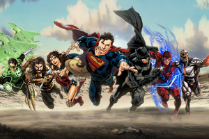 Justice League Superheroes Art