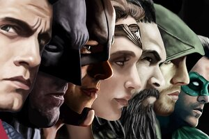 Justice League Superheroes Artwork Wallpaper