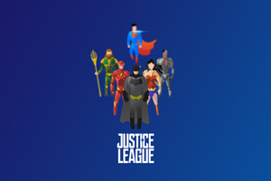 Justice League Superheroes Illustration 4k