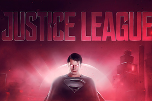 Justice League Superman Art 4k