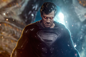 Justice League Superman Black Suit 4k Wallpaper