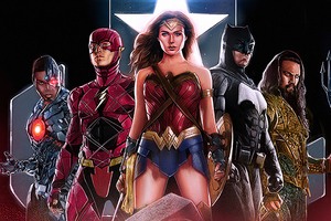 Justice League Team Art