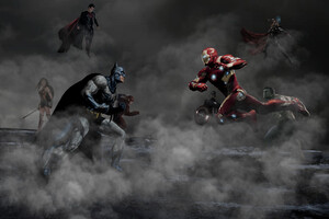 Justice League Vs The Avengers Wallpaper