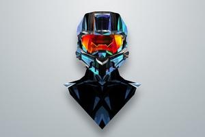 Justin Maller Art Line Helmet