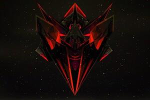 Justin Maller Red Dark Black Abstract