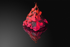 Justin Maller Triangle Reflection Wallpaper