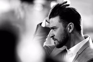 Justin Timberlake Monochorme Wallpaper