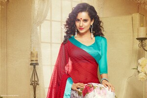 Kangana Ranaut In Saree Wallpaper